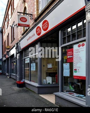 Builth Wells, Wales, Uk. 02nd Jan, 2019.Closure of only Post Office in Builth Wells, Powys, Wales.UK Credit: Supated/Alamy Live News - Stock Photo