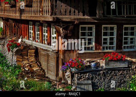 Farm house in Geschwend at the Black Forest - Stock Photo