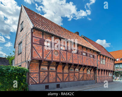 Pilgrändshuset, a half-timbered house dating from 1470 and the oldest such building in Scandinavia,Ystad, Sweden - Stock Photo