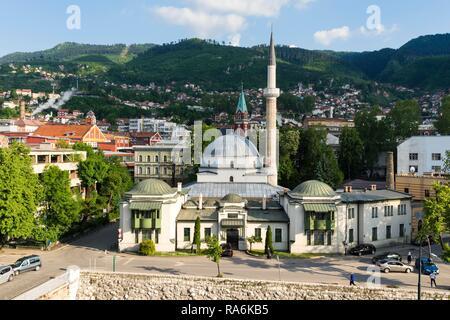 Emperor's Mosque, built in 15th century, Sarajevo, Bosnia and Herzegovina - Stock Photo