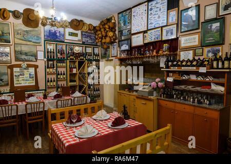 Restaurant Pelican, Virpazar, at Lake Skadar, near Bar, Montenegro - Stock Photo