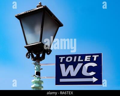 sign, wc, Street, Toilet,streetlamp, - Stock Photo