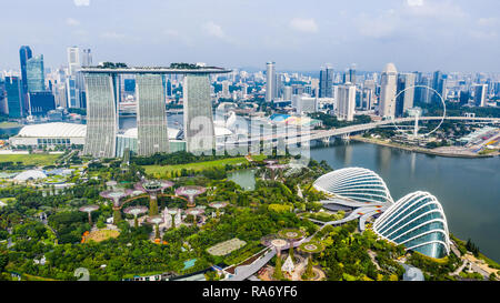 Gardens by the Bay, Marina Bay Sands Resort, Singapore - Stock Photo