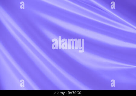 Smooth elegant wavy blue silk or satin luxury cloth fabric texture, abstract background design. - Stock Photo