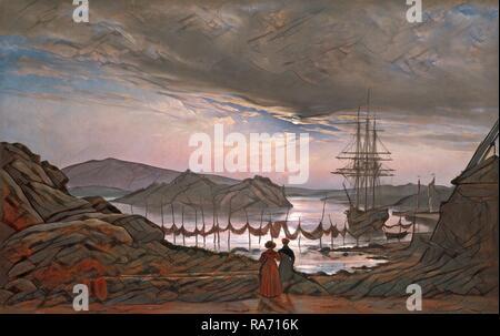Johan Christian Dahl, Norwegian (1788-1857), View from Vaekero near Christiania, 1827, oil on canvas. Reimagined - Stock Photo