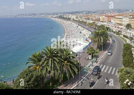 View from Castle Hill, Nice, Alpes-Maritimes department, Provence-Alpes-Côte d'Azur, France - Stock Photo