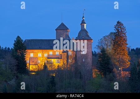 Schnellenberg castle, Attendorn, Sauerland, North Rhine-Westphalia, Germany - Stock Photo