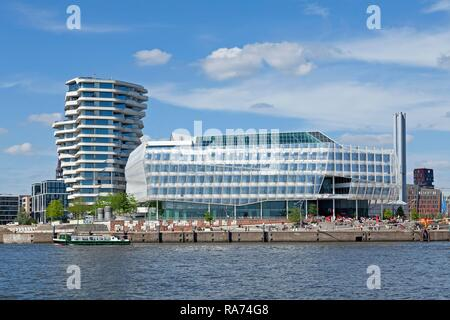 Marco Polo Tower, Unilever House, Hamburg, Germany - Stock Photo