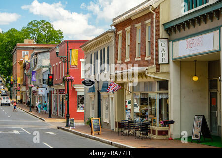Beverley Street, Staunton, Virginia - Stock Photo