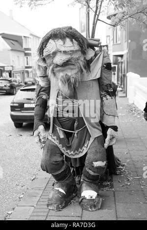 Reykjavik, Iceland - October 12, 2017: funny troll figure on street. Ugly troll figure. Funny and ugly at the same time. - Stock Photo