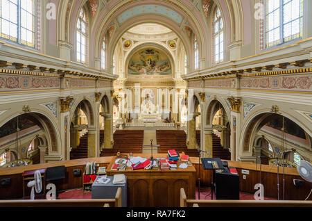 Interior of St. Mary of the Angels Catholic Church - Stock Photo