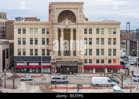Rialto Theater building in downtown Joliet - Stock Photo