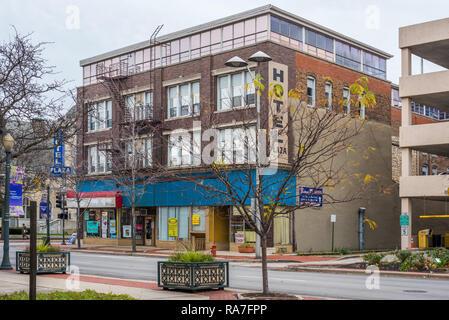 Hotel Plaza downtown Joliet - Stock Photo