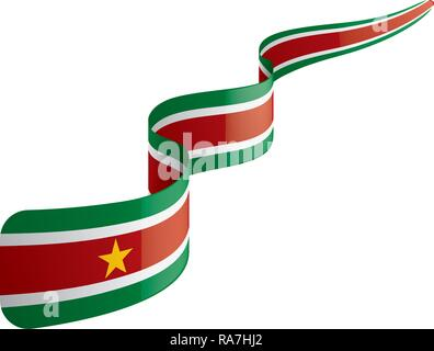 Suriname flag, vector illustration on a white background - Stock Photo