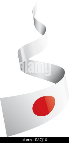 Japan flag, vector illustration on a white background - Stock Photo