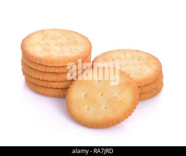 Cracker isolated on white background. - Stock Photo