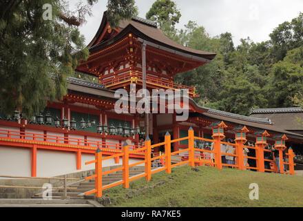 the kasuga taisha shrine in nara japan - Stock Photo