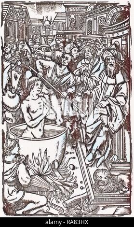 Probably French 16th Century, The Martyrdom of a Saint, woodcut. Reimagined by Gibon. Classic art with a modern twist reimagined - Stock Photo