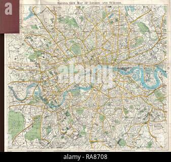 Map Of England 870.1900 Bacon Pocket Map Of London England Stock Photo 231958926 Alamy