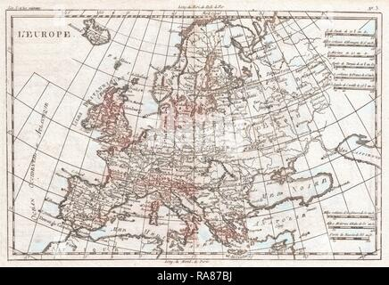 Map Of Europe 1780.1780 Raynal And Bonne Map Of Europe Rigobert Bonne 1727 1794