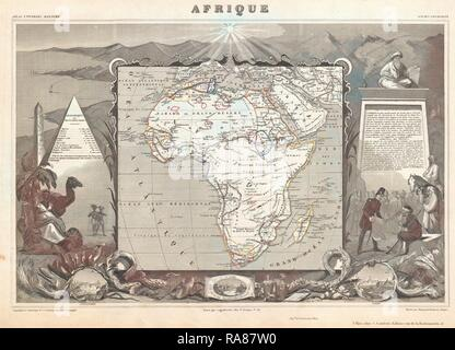 1847, Levasseur Map of Africa. Reimagined by Gibon. Classic art with a modern twist reimagined - Stock Photo