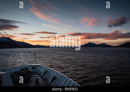 On board the Hurtigruten coastal steamer, Norway. - Stock Photo