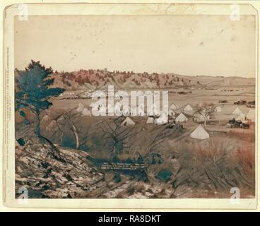 General Brook's Camp. Camp Near Pine Ridge. S.D., Jan. 17, 1891. Reimagined by Gibon. Classic art with a modern twist reimagined - Stock Photo