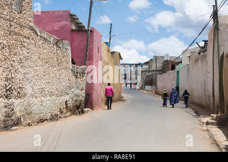 Harar / Ethiopia - May 04 2017: A street in the town of Harar in Ethiopia - Stock Photo