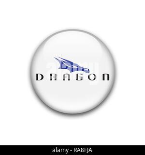 Dragon Spacex logo Stock Photo: 230069267 - Alamy