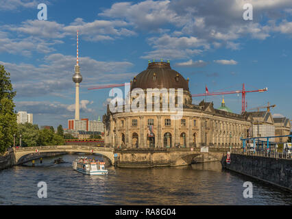 Berlin, Germany - Museum Island is the name of the northern half of an island in the Spree river, and displays the most important museums of Berlin - Stock Photo