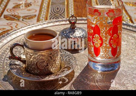 Traditional Turkish Food. Coffee. Turkey, Asia Minor - Stock Photo
