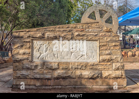 CLANWILLIAM, SOUTH AFRICA, AUGUST 28, 2018: The Voortrekker Monument in Clanwilliam in the Western Cape Province - Stock Photo