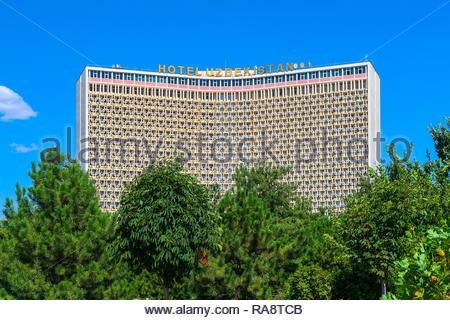 Hotel Uzbekistan in the City Center of Tashkent, Uzbekistan - 22 July 2016 - Stock Photo