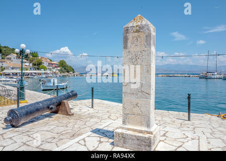 GREECE - CORFU - KASSIOPI - JULY 29, 2018: Monument in Kassiopi town on Corfu, Greece. - Stock Photo