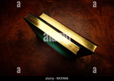 Nicely bound hard cover books, ledgers or journals - Stock Photo
