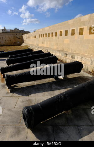 Valletta, Malta George Cross island in the Mediterranean, Fort Saint Elmo - Stock Photo