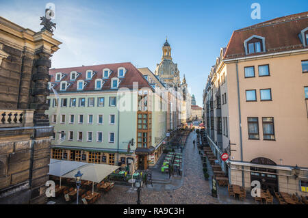Streets of Dresden Germany - Stock Photo