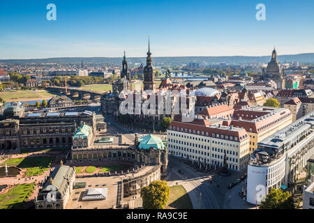 Nice old town of Dresden - Stock Photo