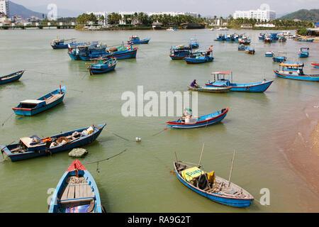 Nha Trang, a coastal city, capital of Khanh Hoa Province, on the South Central Coast of Vietnam, February 6, 2018. (CTK Photo/Jan Rychetsky) - Stock Photo