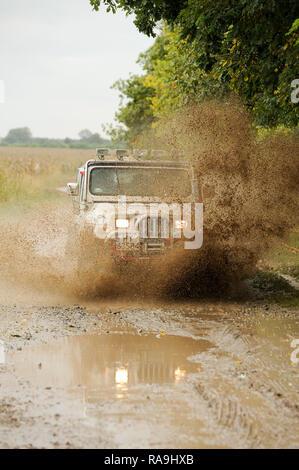 Jeep Wrangler off road in Ukraine. September 26th 2008 © Wojciech Strozyk / Alamy Stock Photo - Stock Photo
