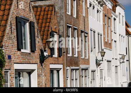 Buildings in Middelburg, Netherlands. View on the old town architecture details. - Stock Photo