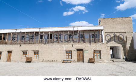 Inside Ark Fortress in Bukhara, Uzbekistan - Stock Photo