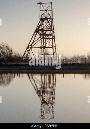 Winding Gear (pit wheel) at the former Frances Colliery, Dysart Fife, Scotland - Stock Photo