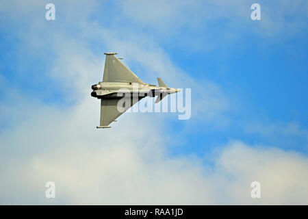 Eurofighter Typhoon in flight at Eastbourne Airbourne Airshow, East Sussex, UK - Stock Photo