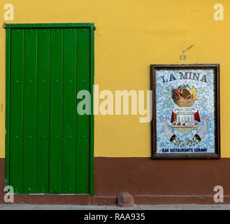 La Mina Restaurant, Plaza de Armas, Habana Vieja, Havana, Cuba - Stock Photo