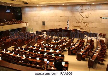 Inside the Knesset, Israel Parlement, Jerusalem - Stock Photo
