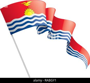 Kiribati flag, vector illustration on a white background - Stock Photo
