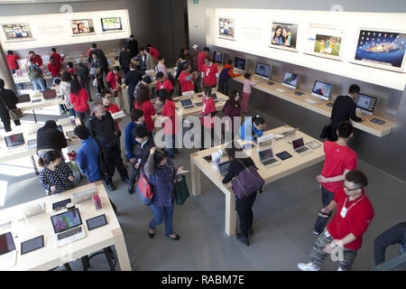 apple store in Hongkong | usage worldwide - Stock Photo