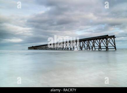 The Disused Steetley Pier, Hartlepool, County Durham, UK. - Stock Photo