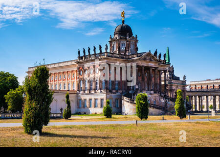 Potsdam, Brandenburg / Germany - 2018/07/29: Historic buildings of the Potsdam University - Communs - baroque annexes of the royal New Palace in the S - Stock Photo
